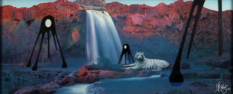 Kii Arens-Black La La With Tiger And Waterfall-2005