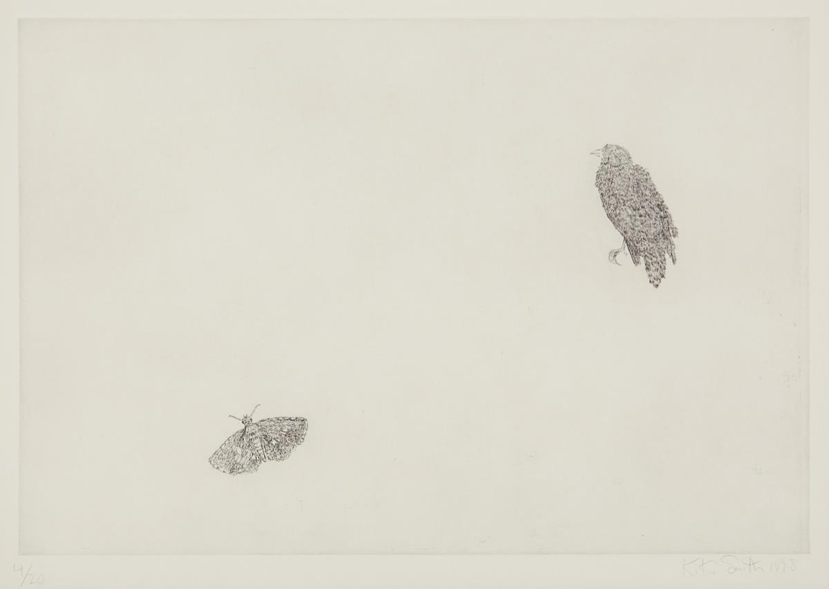 Kiki Smith-Untitled (Bird and Butterfly)-1998