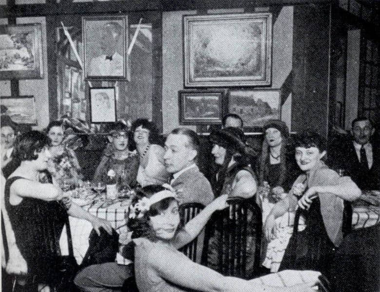 Kiki at luncheon party, 1920s