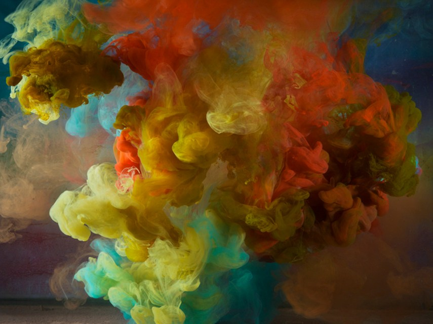 Kim Keever - Abstract 12065c, 24x31, 34x44, 2014, KTF