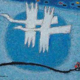 Kim Whanki-Untitled-1958