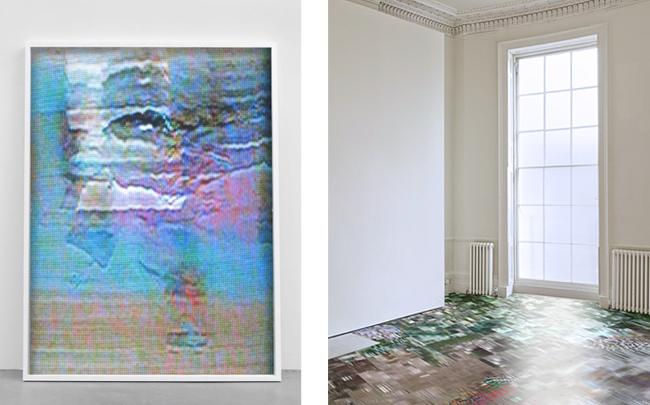 Konrad Wyrebek - Abstt (2011) and Floor Installation (2014) - Photo Courtesy by the Artist