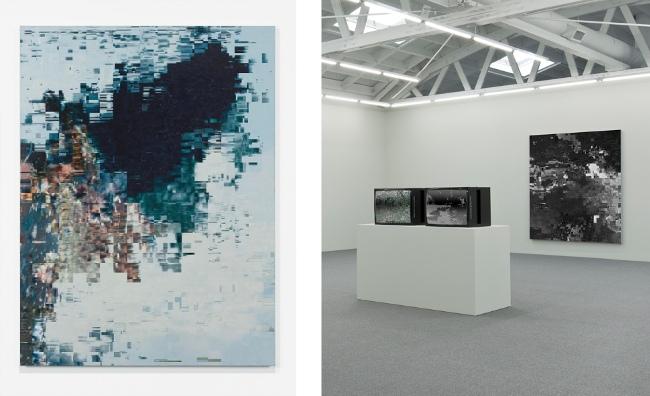 Konrad Wyrebek - DataError painting Black Pixel Installation, 2013 - Photo Courtesy of the Artist