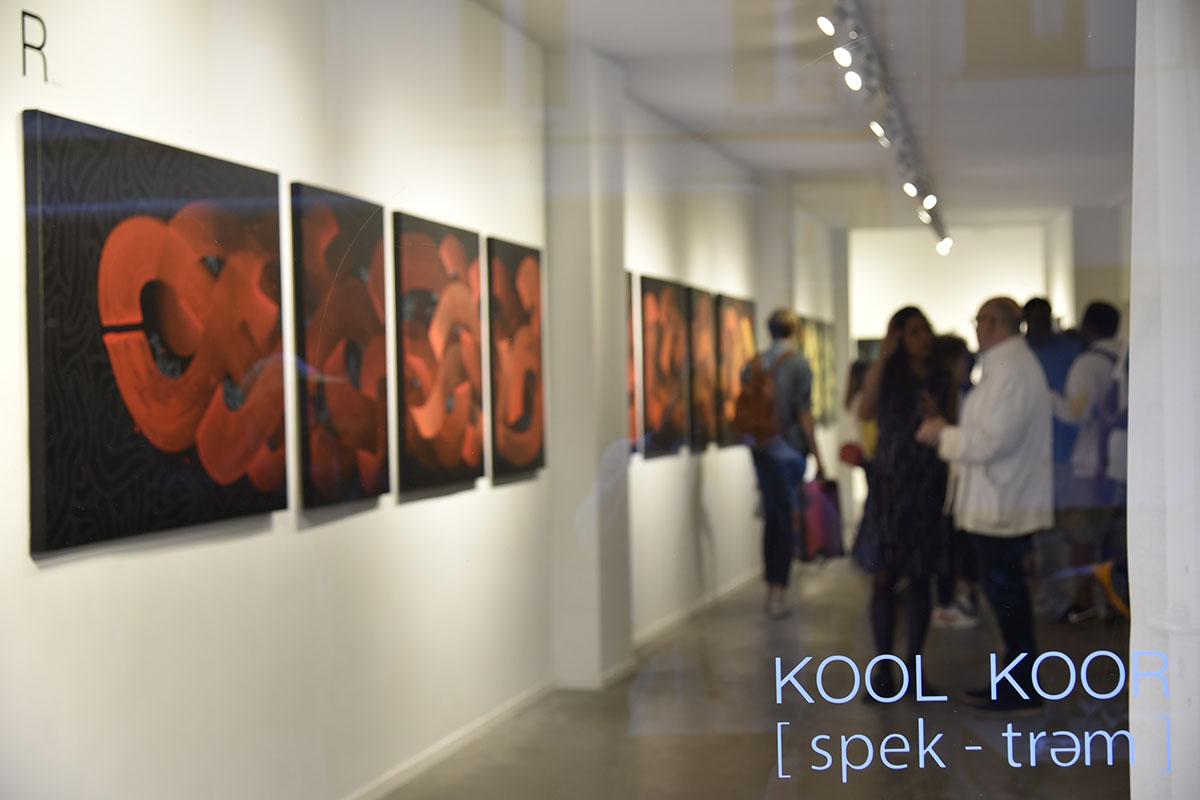Kool Koor [spek-trəm] at Galerie Martine Ehmer, 2018, courtesy the artist