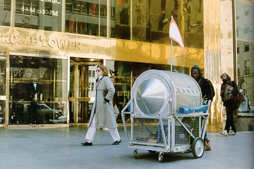 Krzysztof Wodiczko -Homeless Vehicle in New York City, 1988-89