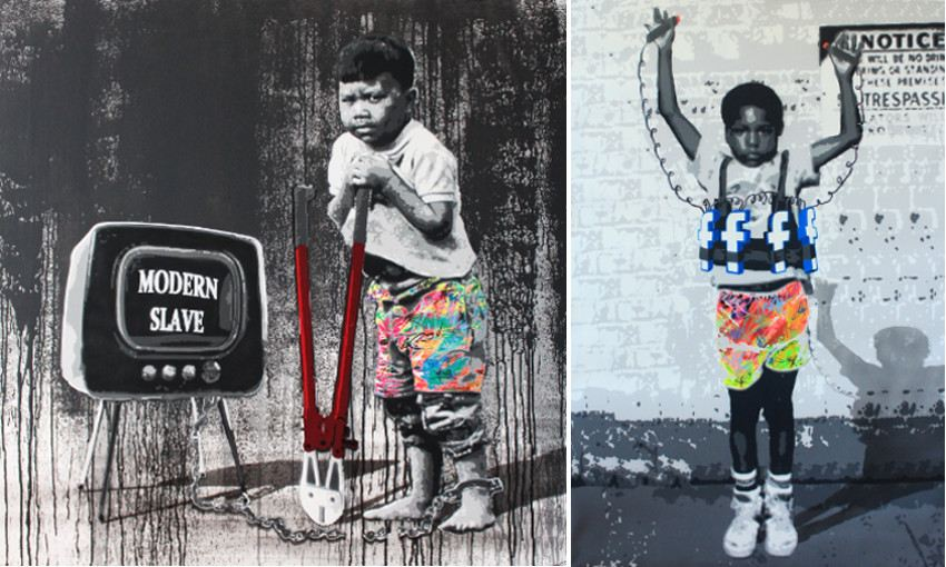 Modern slave, 2014 (Left) / Social Suicide, 2014 (Right) galerie store