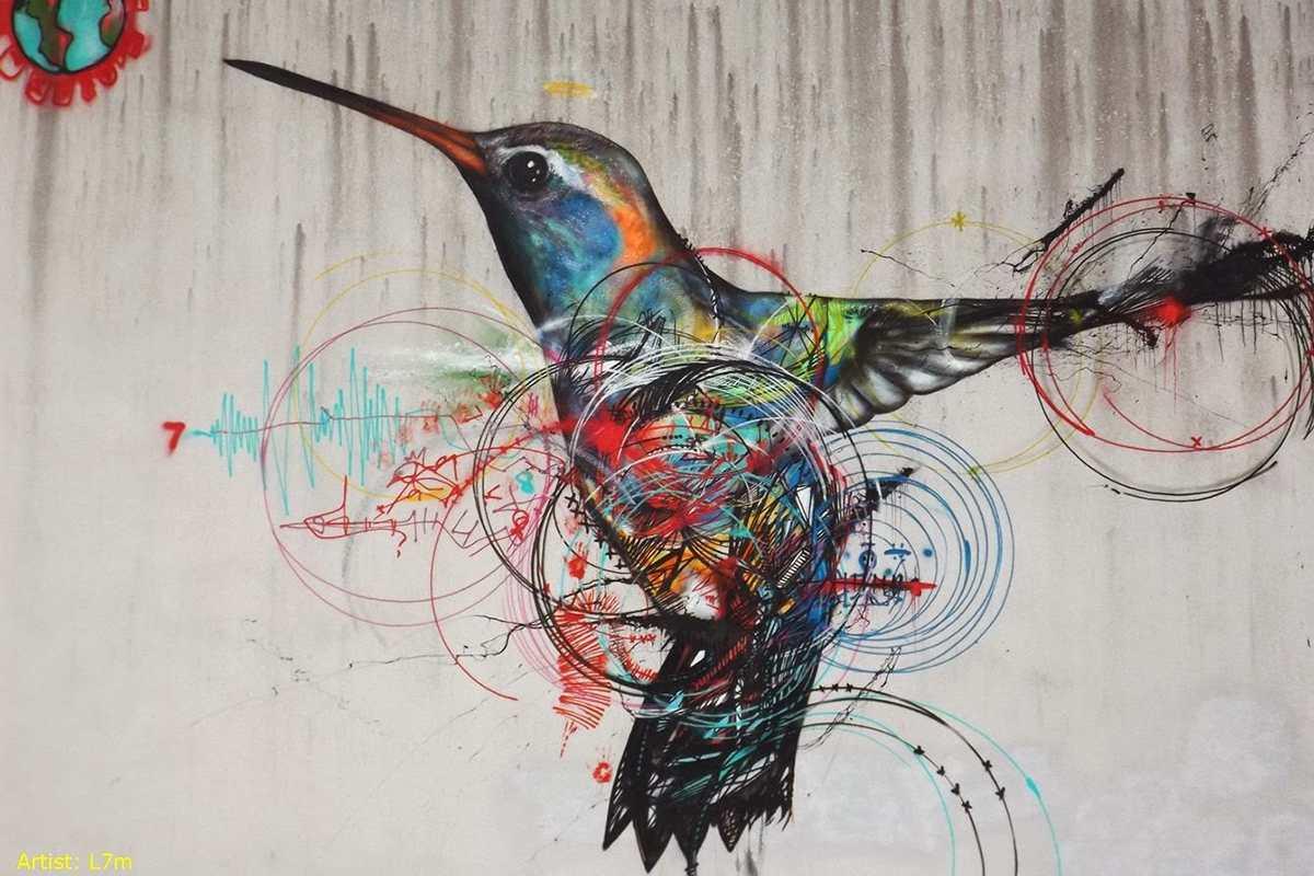 street art mural bird
