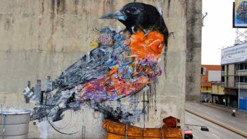 bird mural street art