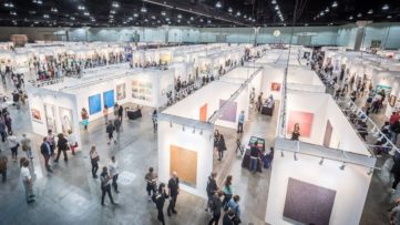 view of the LA Art Show 2018