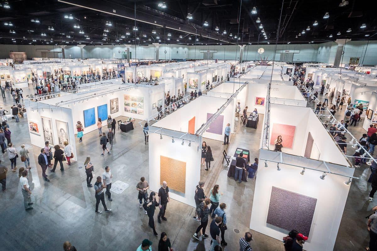 view of the LA Art Show 2018
