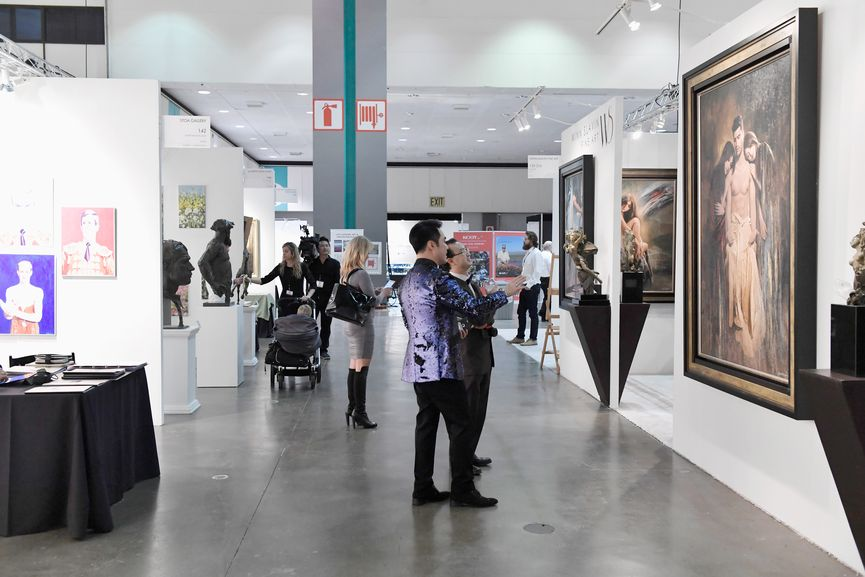 LA Art Show 2017 opening