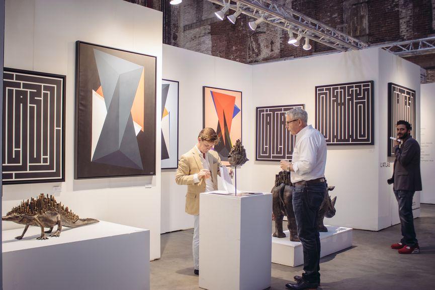 L'Atlas, COX Gallery. Moniker NYC 2018