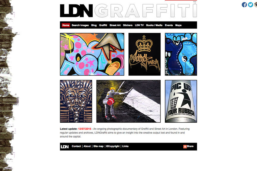 graffiti websites