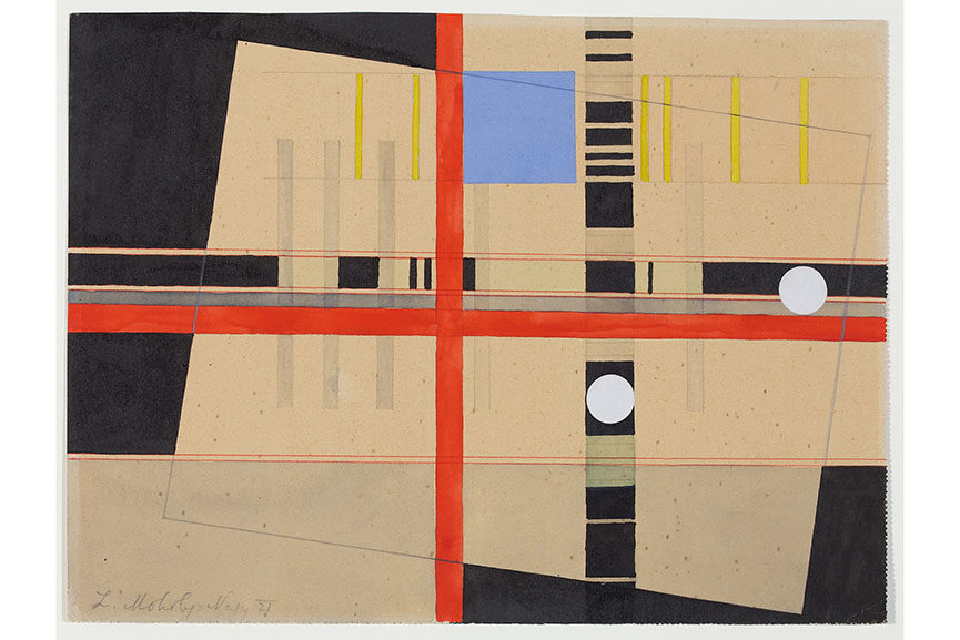 László Moholy-Nagy, Red Cross and White Balls, 1921