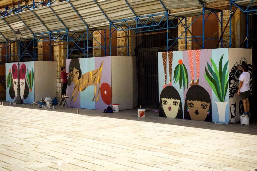 più gli artisti dal territorio di sardegna, nel paese di oristano dove si svolge il progetto di cultura a maggio