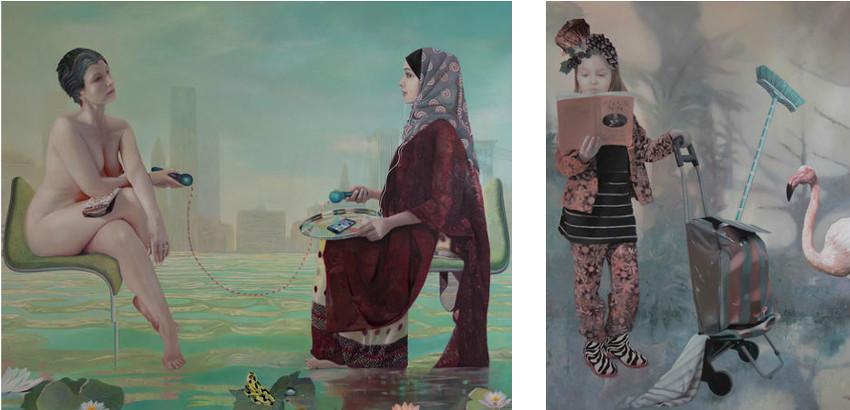 Art by Laina Hadengue - La premiere de nous deux qui rira / Le Balai de la Femme en Rose