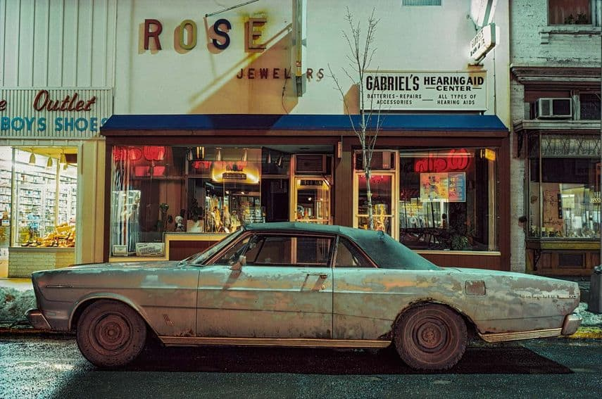 Langdon Clay - Rose Jeweler's Car, Ford Galaxie 500 XL (1966), Troy, NY, 1975 in Rotterdam