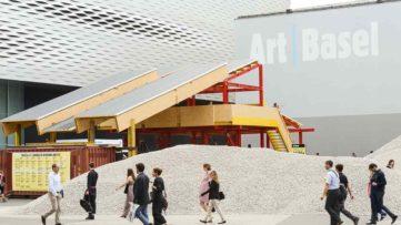 Lara Almarcegui - Gravel Messeplatz Art Basel 2018