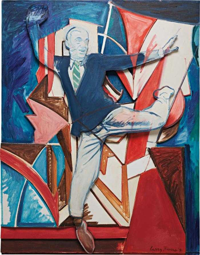 Larry Rivers-Dancing with Bomberg's Dancer: Relief-1990