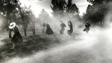 Larry Towell - Dust Storm, Durango Colony, Durango, Mexico, 1994