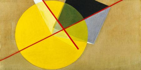 Laszlo Moholy-Nagy - Yellow Circle (detail), 1921, photo via thecharnelhouse.org