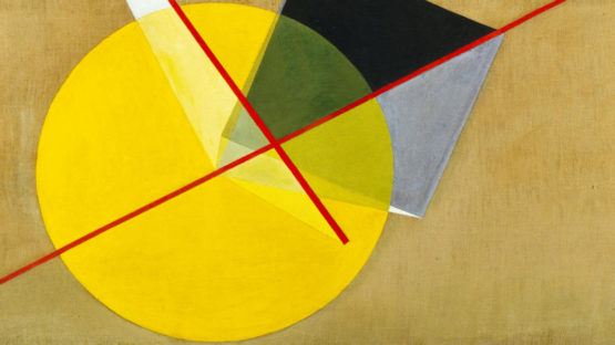 Laszlo Moholy-Nagy - Yellow Circle (detail), 1921, photo via thecharnelhouse.org
