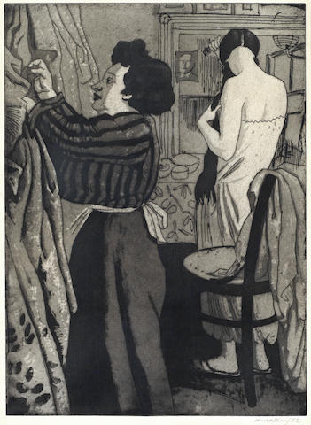Dame Laura Knight-Dresser at Drury Lane Theatre-1925