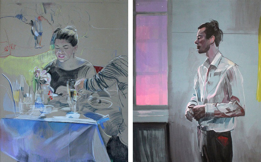 Laura La Wasilewska - Elevenses (Detail), 2011 (Right) / Pink Rhapsody (Detail), 2011 (Left)