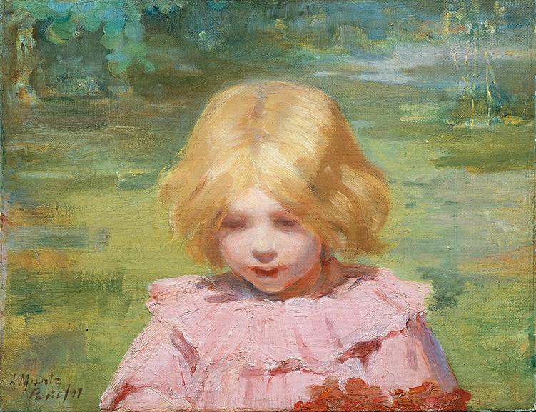 Laura Muntz – The Pink Dress, 1897