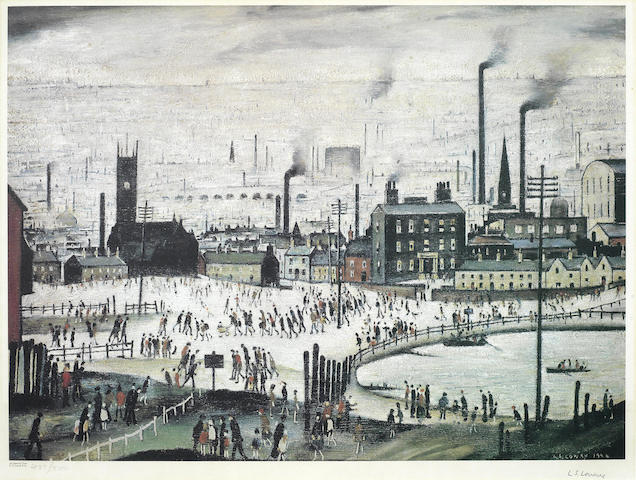 Laurence Stephen Lowry-An Indsutrial Town-
