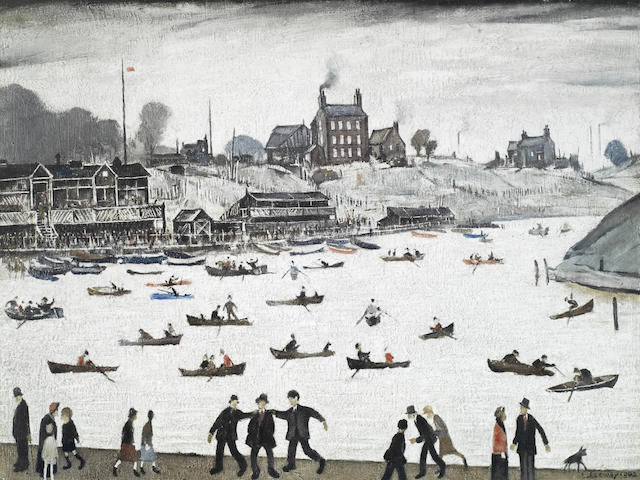 Laurence Stephen Lowry-Crime Lake-1973