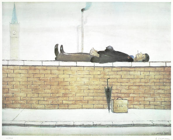 Laurence Stephen Lowry-Man on a wall-