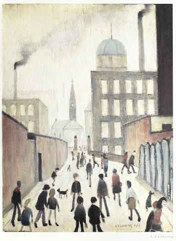 Laurence Stephen Lowry-Mrs Swindell's Picture-