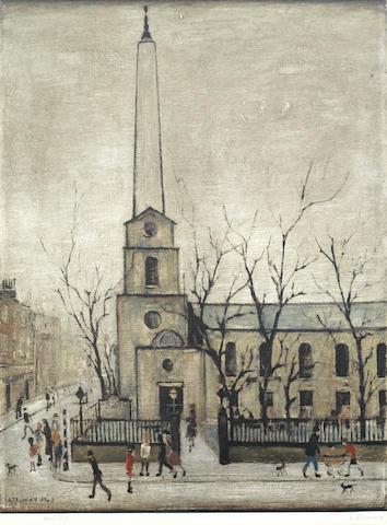 Laurence Stephen Lowry-St Luke's Church, London-1973