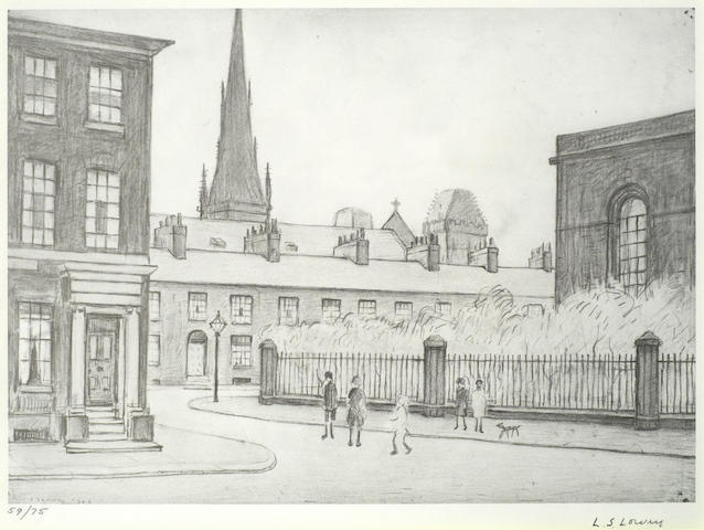 Laurence Stephen Lowry-St. Philips Church, Salford-