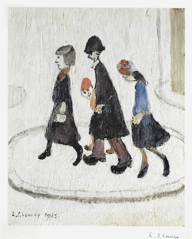 Laurence Stephen Lowry-The Family-