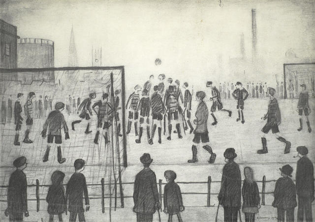 Laurence Stephen Lowry-The Football Match-