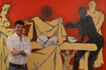 Lavesh Jagasia with MF Husain's The Last Supper