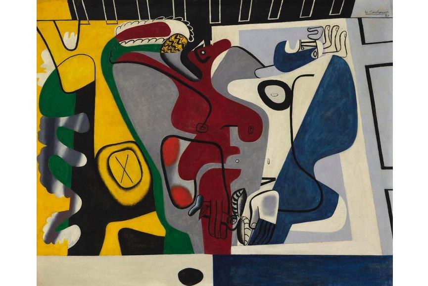 Le Corbusier - Deux Figures Au Tronc D'arbre Jaune, 1937