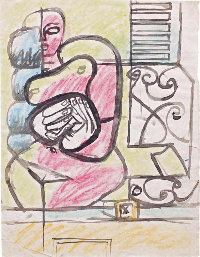 Le Corbusier-Etude de Femme Rouge et Pelote Verte-1953