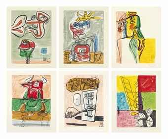 Le Corbusier-Unite (The Complete Portfolio of Twenty Etchings)-1965