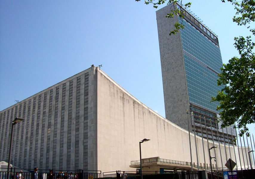 Le Crobusier - The United Nations Headquarters, 1947-1952 - image via wikimedia