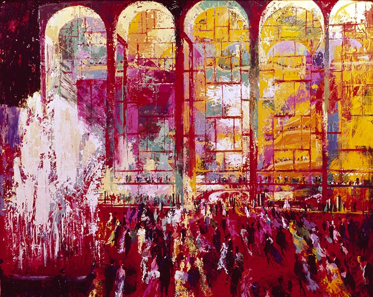 LeRoy Neiman didn't depict only golf matches, sports and stars like Ali but also architecture