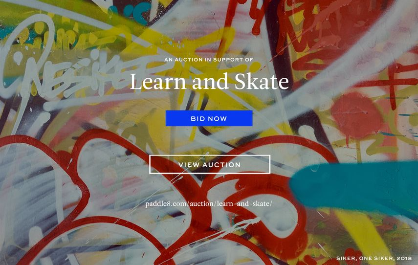 Bid at the Learn and Skate Auction