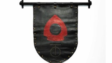Leather Banner from The Spike, c. 1984