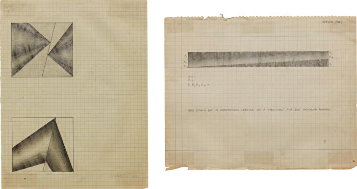 Lee Lozano-Two works: (i) Compressed version of a painting for the Holland Tunnel, (ii) Untitled-1967
