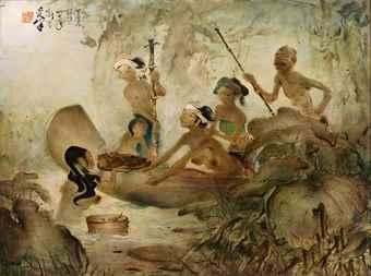 Lee Man Fong-Panen Lotus (Lotus Harvest)-1948