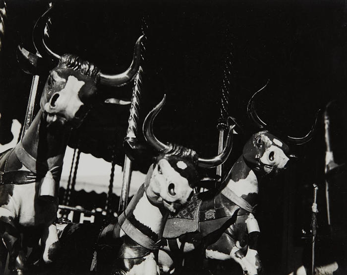 Lee Miller-Carousel Cows-1930