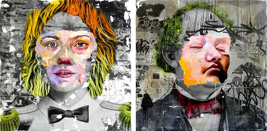Left - AM DeBrincat - Amateur Psycic Hour, 2016 - Right - AM DeBrincat - Professor, 2016