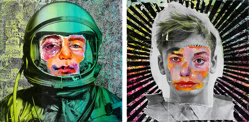 AM DeBrincat - Shimmering Cosmonaut, 2016 (left) / Antwerp Disco, 2016 (right)